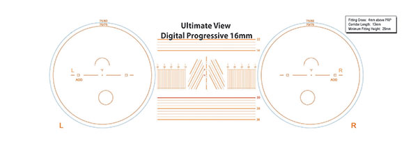 Progressive 16mm lens with measurements for them.