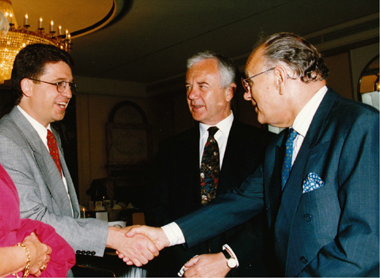Dr. Kovalis with Manfred Stolpe