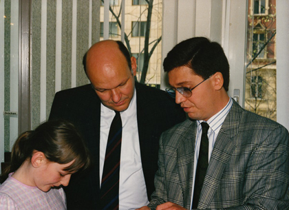 Dr. Kovalis with Walter Momper